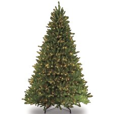 10' Green Fir Artificial Christmas Tree with 1300 Clear and White Lights with Stand