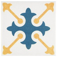 """Revive 7.75"""" x 7.75"""" Ceramic Floor and Wall Tile in Spectrum"""