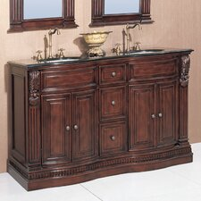 Willhelm 60 Double Chest Bathroom Vanity Set by Legion Furniture