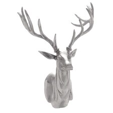 Silver Stag Trophy Head Wall Décor