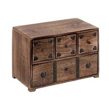 6 Drawer Traditional Wood Chest by ABC Home Collection