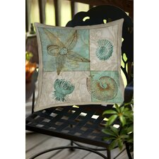Sea Life 1 Indoor/Outdoor Throw Pillow by Manual Woodworkers & Weavers