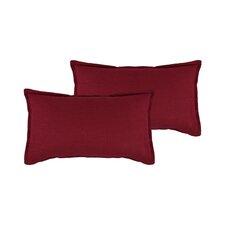 Lombard Reversible Decorative Linen Boudoir Pillow (Set of 2)