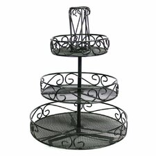 "Rotating Tabletop 14.5"" H Three Tier Accessory Tray"