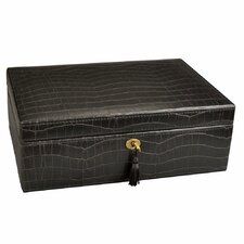 Luxury Lockable Leatherette Jewelry Box