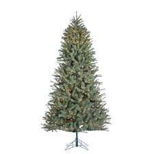 Toledo 7.5'  Green Pine Artificial Christmas Tree with 800 Incandescent Clear Lights