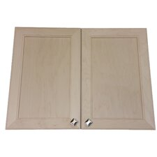 Village 31 x 31.5 Recessed Beveled Medicine Cabinet by WG Wood Products