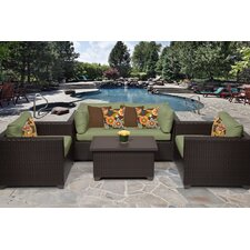 Belle 5 Piece Deep Seating Group with Cushion