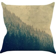 Any Road Will Do by Robin Dickinson Mountain Tree Throw Pillow