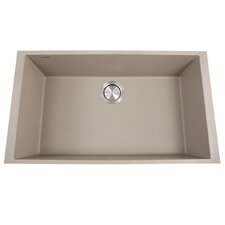 "Plymouth 30"" x 17.75"" Undermount Kitchen Sink with Basket Strainer"