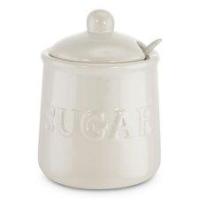 0.5 qt. Ceramic and Spoon Sugar Jar