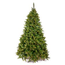 7.5' Green Cashmere Mixed Pine Artificial Christmas Tree 700 LED Warm White Lights with Stand