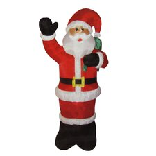 Animated Inflatable Lighted Standing Santa Claus Christmas Yard Art Decoration