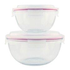 2 Piece Glass Mixing Bowl Set