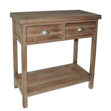 2 Drawer Wood Hallway Table with 1 Lower Shelf by Cheungs