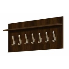 Slim Standard 7 Hook Wall Mounted Coat Rack