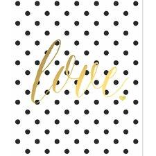 'Gold Foil Polka Dot Love' Graphic Art
