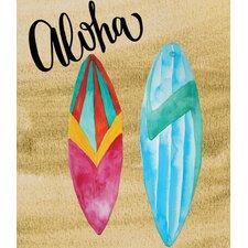 'Aloha Surf Board' Graphic Art