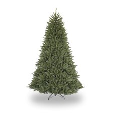 7.5' Green Artificial Christmas Tree Unlit with Stand