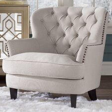 Parmelee Tufted Upholstered Linen Club Chair by Lark Manor™