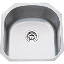 "19.75"" x 20.5"" Single 18 Gauge Stainless Steel Undermount Utility Sink"