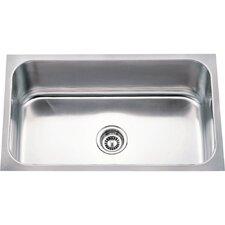 "30"" x 18"" Single 18 Gauge Stainless Steel Undermount Utility Sink"