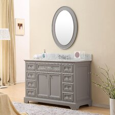 Colchester 48 Single Sink Bathroom Vanity Set with Mirror - Grey by Darby Home Co