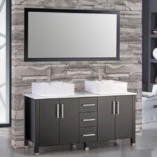 Aruba 60 Double Bathroom Vanity Set with Mirror by MTD Vanities