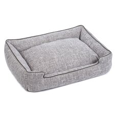 Harper Textured Woven Lounge Dog Bed