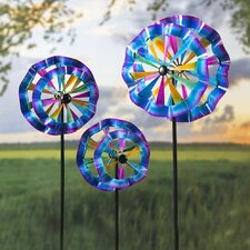 3 Piece Ruffled Wind Spinners Set