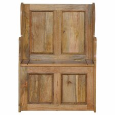Wood Storage Hallway Bench