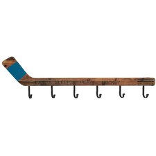Wood and Metal Hockey Wall Mounted Coat Rack by Cole & Grey