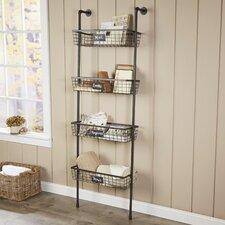 4-Tier Wire Basket Wall Shelf