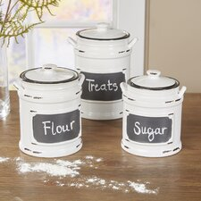 Dupree 3 Piece Kitchen Canister Set (Set of 3)