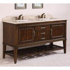 65 Double Bathroom Vanity Set by Legion Furniture