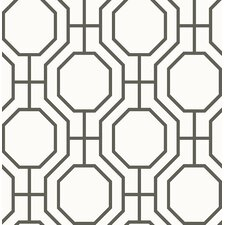 "Linda Circuit Modern Ironwork 33' x 20.5"" Geometric Wallpaper"