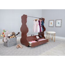Bear Mobile Dress Up Clothes and Shoe Organizer Armoire