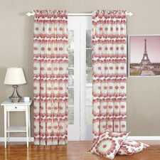 Delia Geometric Semi-Sheer Rod Pocket Single Curtain Panel