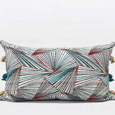 Luxury Geometric Tassels Lumbar Pillow  by G Home Collection