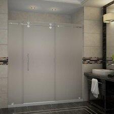 Langham 72 x 77.5 Single Sliding Frameless Shower Door by Aston
