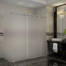 Moselle 72 x 35 x 75 Frameless Sliding Shower Enclosure by Aston