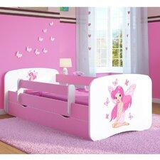 Kinderbett Butterfly Fairy mit Matratze und Schublade