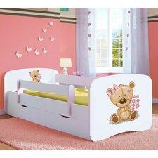 Kinderbett Flower Teddy mit Matratze und Schublade