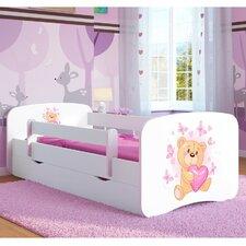 Kinderbett Butterfly Teddy mit Matratze und Schublade