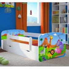 Kinderbett Safari mit Matratze und Schublade