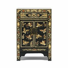 Classic 2 Door 1 Drawer Chinese Cabinet
