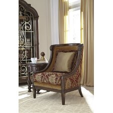 Coven Carved Wood Wingback Chair by Astoria Grand