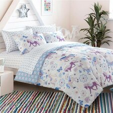 Bed in a Bag Toddler Comforter Set in Pretty Horses