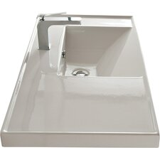 "ML 36"" Wall Mounted Bathroom Sink with Overflow"