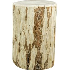 Abordale Cowboy Stump Round End Table by Loon Peak